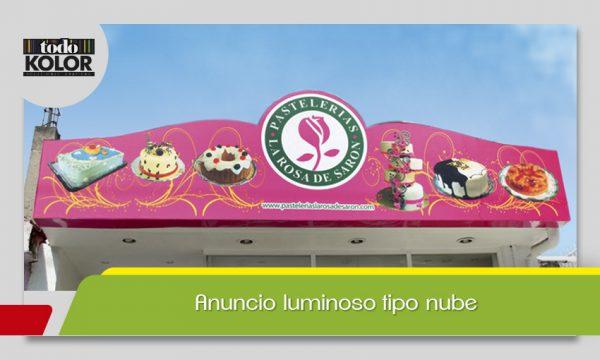 ANUNCIO LUMINOSO TIPO NUBE