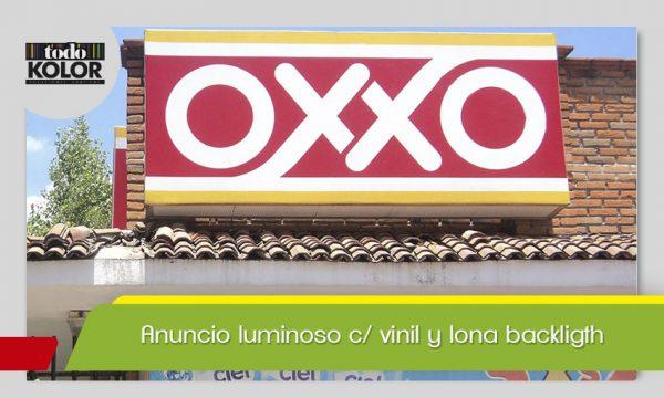 ANUNCIO LUMINOSO C/ VINIL Y LONA BACKLIGTH