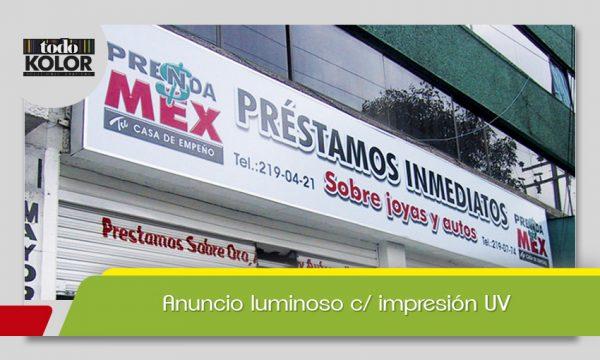 ANUNCIO LUMINOSO C/ IMPRESIÓN UV