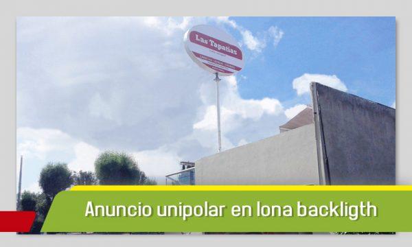 ANUNCIO UNIPOLAR EN LONA BACKLIGTH