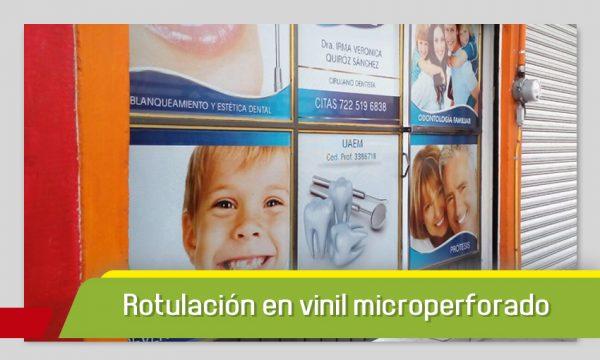 ROTULACIÓN MICROPERFORADO