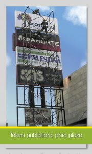 Anuncios publicitarios Totem publicitario plaza comercial 2 Toluca Todokolor