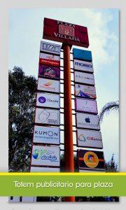Anuncios publicitarios Totem publicitario plaza comercial Toluca Todokolor