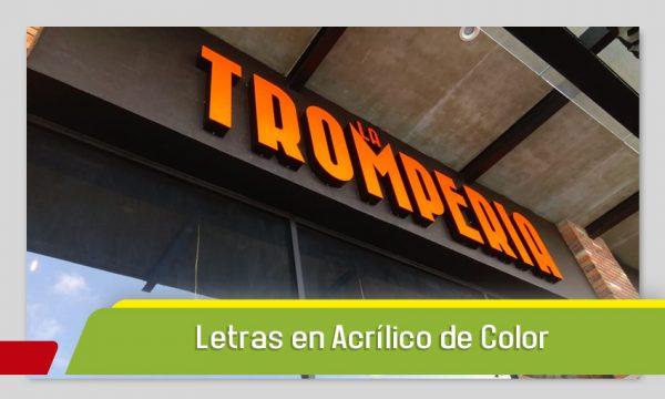 LETRAS EN ACRÍLICO DE COLOR