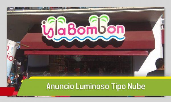 ANUNCIO TIPO NUBE EN VINIL TRANSLUCIDO