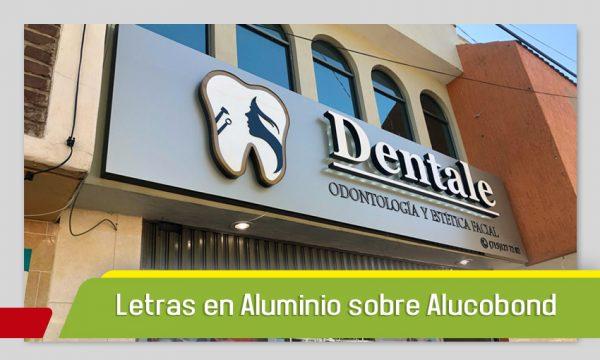 LETRAS DE ALUMINIO SOBRE UNA BASE DE ALUCOBOND