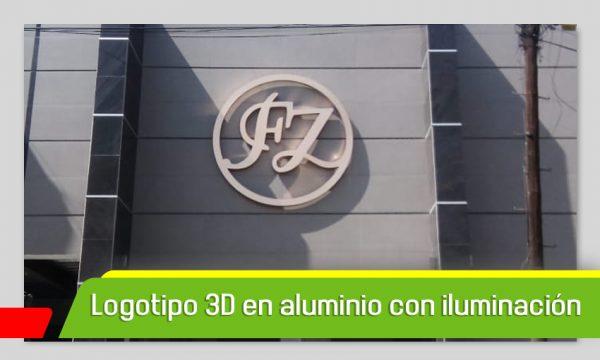 LOGOTIPO 3D EN ALUMINIO CON ILUMINACIÓN