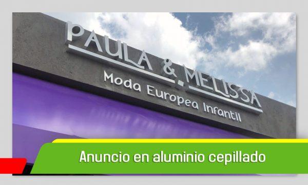 LETRAS 3D ALUMINIO CEPILLADO
