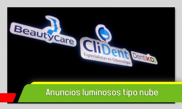 ANUNCIOS LUMINOSOS TIPO NUBE