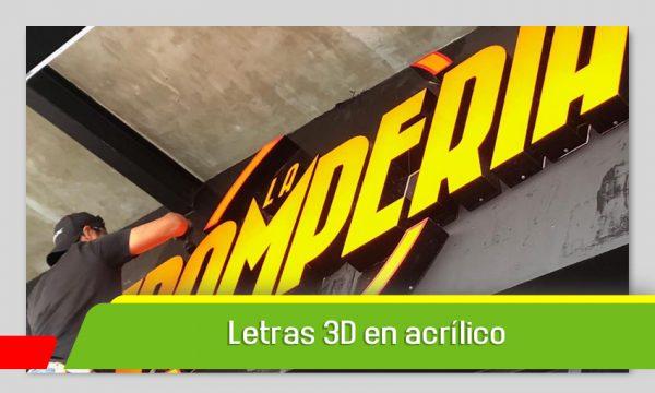 LETRAS 3D EN ACRÍLICO