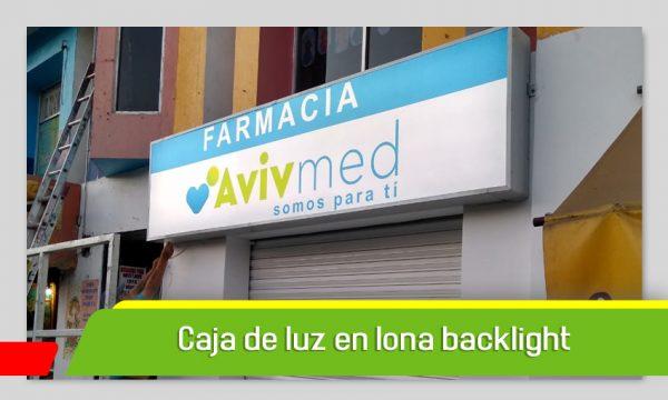 CAJA DE LUZ EN LONA BACKLIGHT