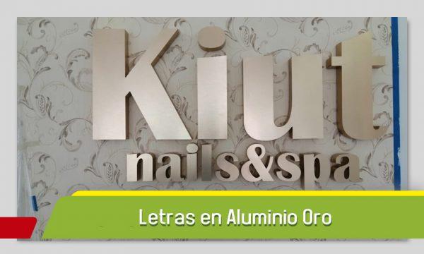 LETRAS 3D EN ALUMINIO ORO CEPILLADO