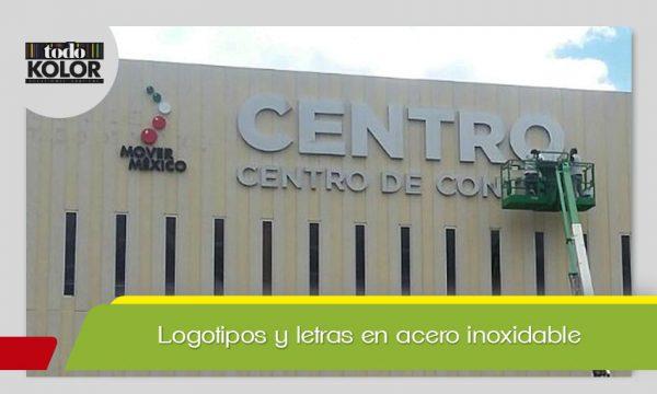 LOGOTIPOS Y LETRAS EN ACERO CON CAPA DE PINTURA