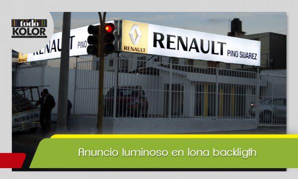 ANUNCIO LUMINOSO EN LONA BACKLIGTH