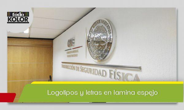 LOGOTIPOS Y LETRAS EN LAMINA ESPEJO
