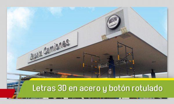 LETRAS 3D EN ACERO