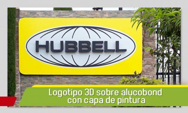 Logotipo 3D sobre base de alucobond