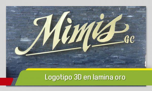 Logotipo 3D en lamina oro