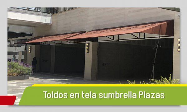 TOLDOS EN TELA SUMBRELLA PARA PLAZAS COMERCIALES