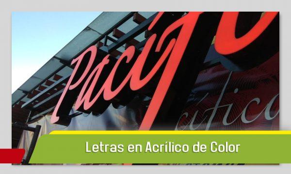 LETRAS 3D EN ACRÍLICO DE COLOR E ILUINACIÓN