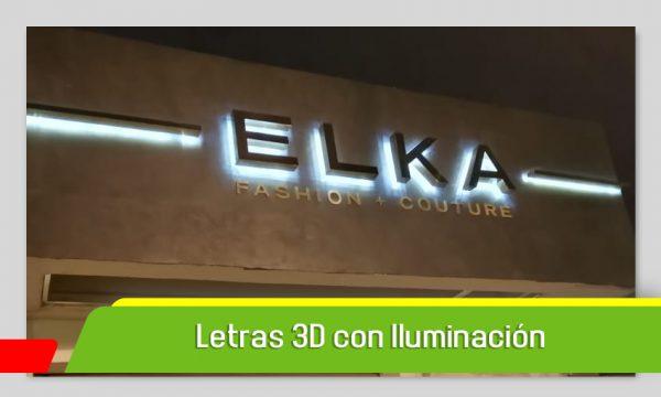 LETRAS 3D CON ILUMINACIÓN EN ALUMINIO