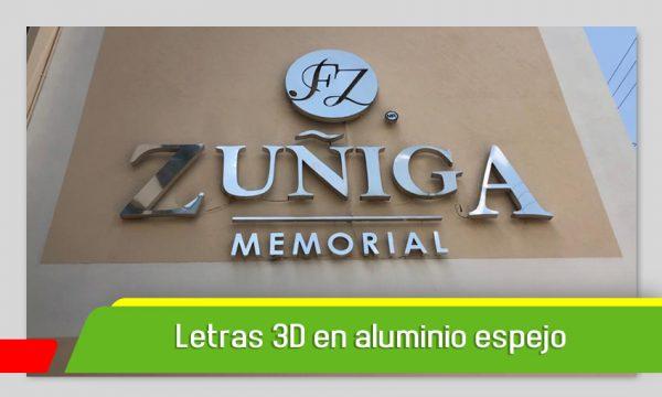 LETRAS 3D EN ALUMINIO ESPEJO