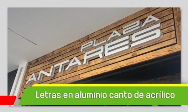 LETRAS 3D EN ALUMINIO Y CANTO DE ACRÍLICO